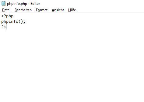 Inhalt der phpinfo.php-Datei