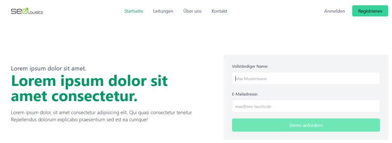 tailwind hero site beispiel tailwind css tutorial, Tutorial, Tailwind CSS, Webseite stylen, Webdesign